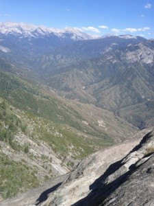 In the distance is the park backcountry and High Sierras.